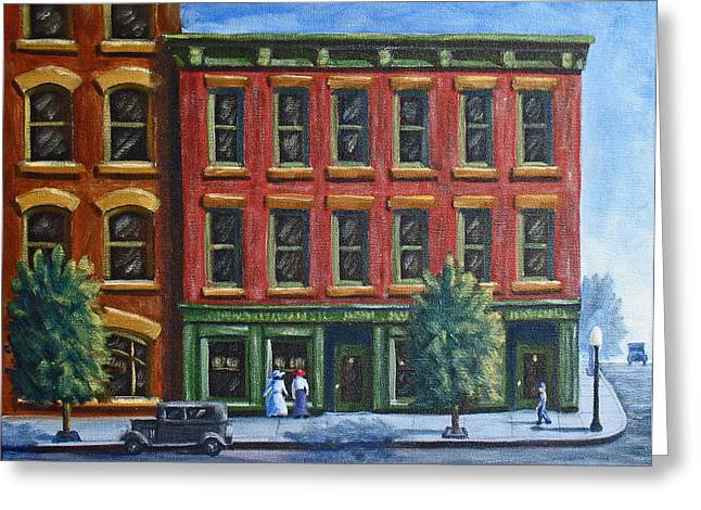 Old Downtown Greeting Card