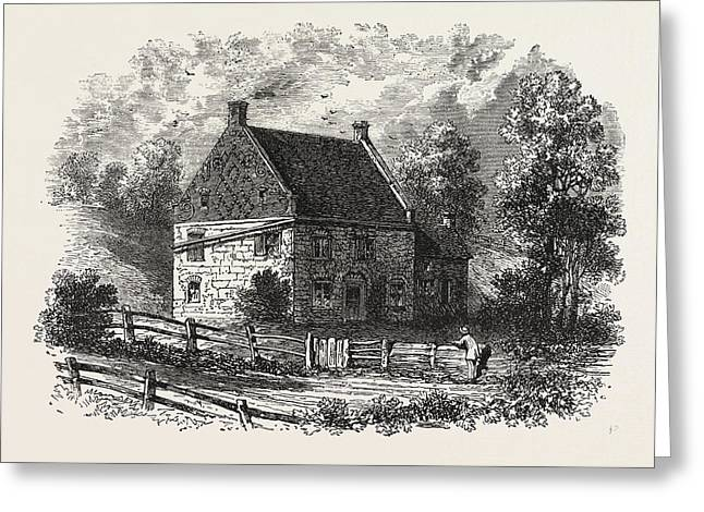 Old Dutch House, Long Island, New York, United States Greeting Card by American School