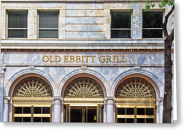 Old Ebbitt Grill Greeting Card