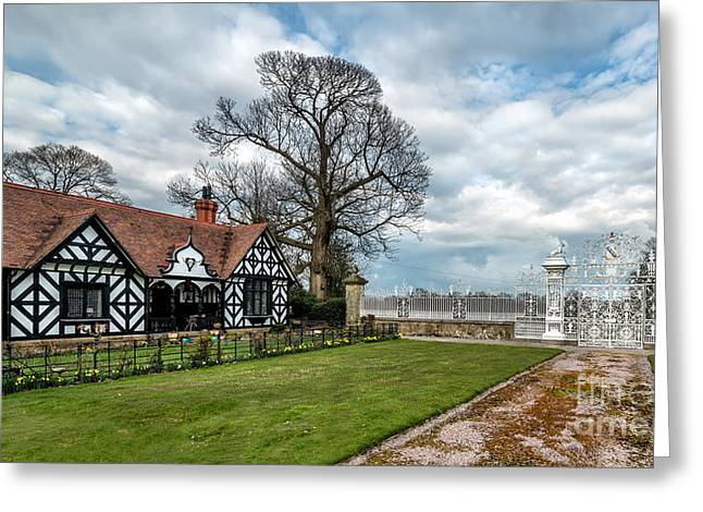 Old English Lodge Greeting Card by Adrian Evans