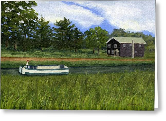 Greeting Card featuring the painting Old Erie by Lynne Reichhart
