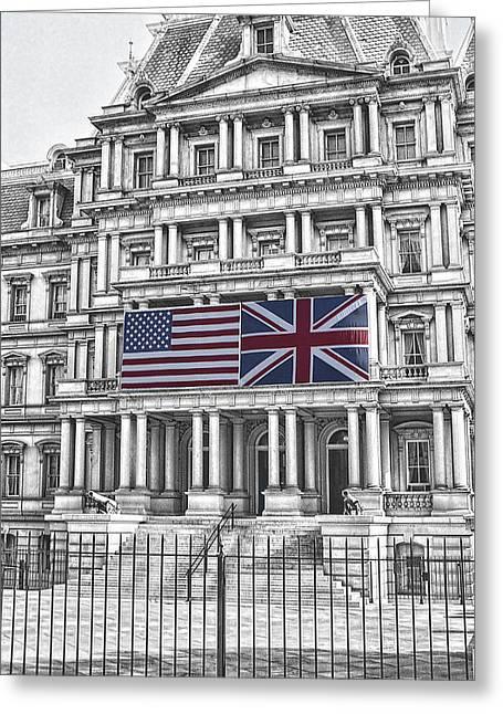 Old Executive Office Bldg - Washington D. C. Greeting Card by Daniel Hagerman