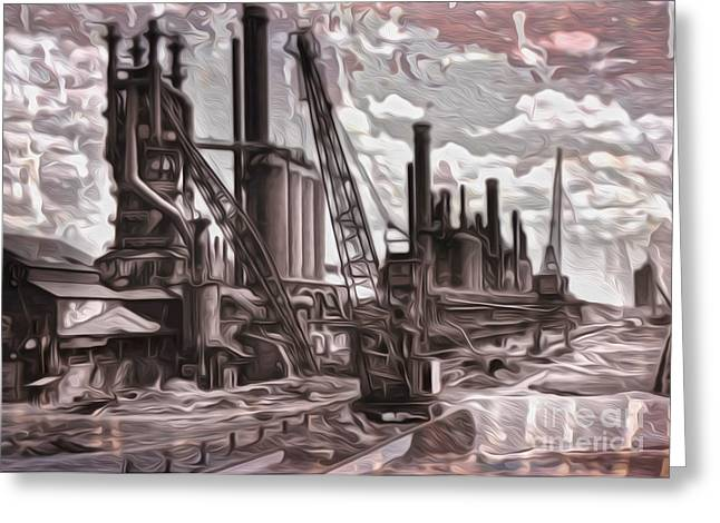 Old Factory Greeting Card by Gregory Dyer