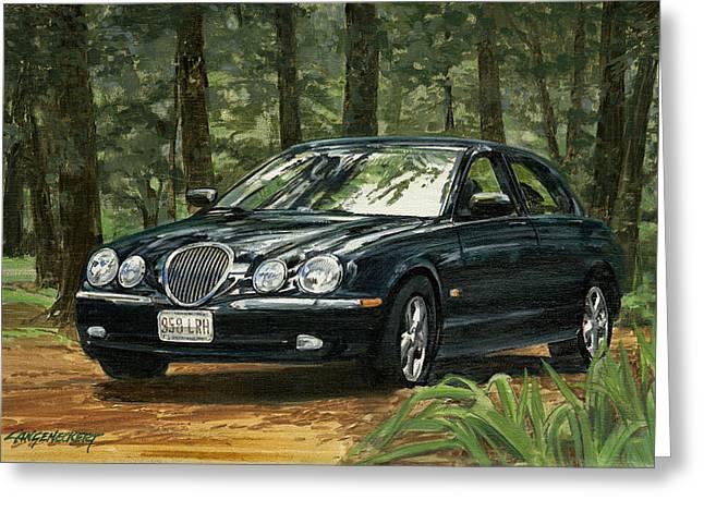 Old Faithful 2000 Jag Greeting Card by Don  Langeneckert
