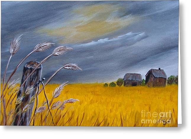 Old Farm 1 Greeting Card by Beverly Livingstone