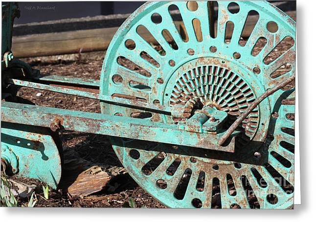 Greeting Card featuring the photograph Old Farm Equipment by Todd Blanchard