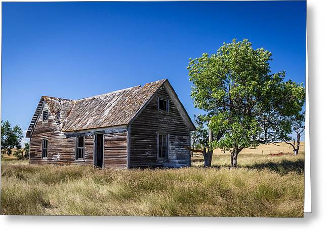Old Farm House 3 Greeting Card by Chad Rowe