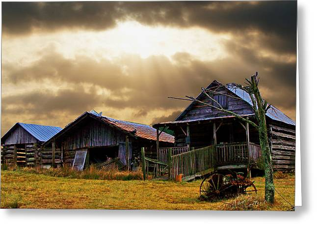 Greeting Card featuring the photograph Old Farm House by B Wayne Mullins