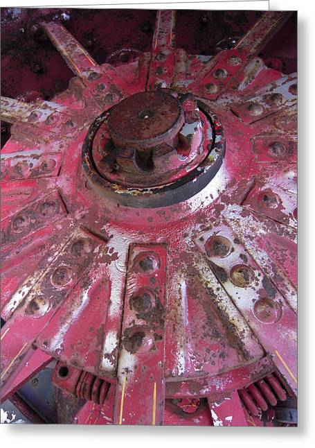 Old Farm Tractor Detail Greeting Card by Don Struke