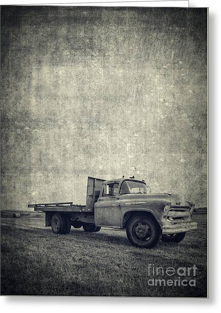 Old Farm Truck Cover Greeting Card