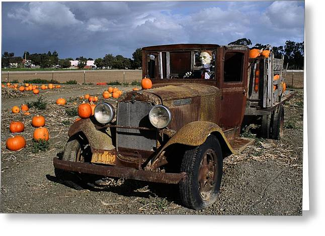 Greeting Card featuring the photograph Old Farm Truck by Michael Gordon