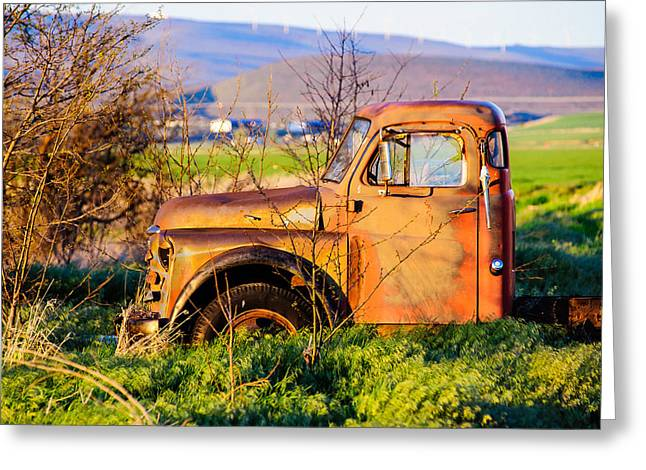 Old Farm Truck Greeting Card by Steve G Bisig