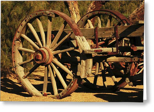 Old Farm Wagon Furnace Creek, Death Greeting Card by Michel Hersen
