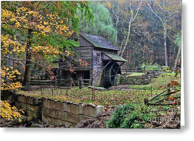Old Fashion Mill Greeting Card by Paul Ward