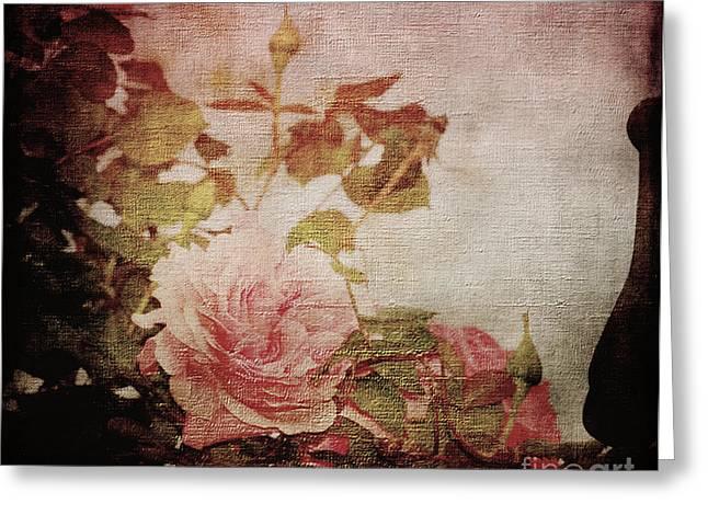 Old Fashion Rose Greeting Card