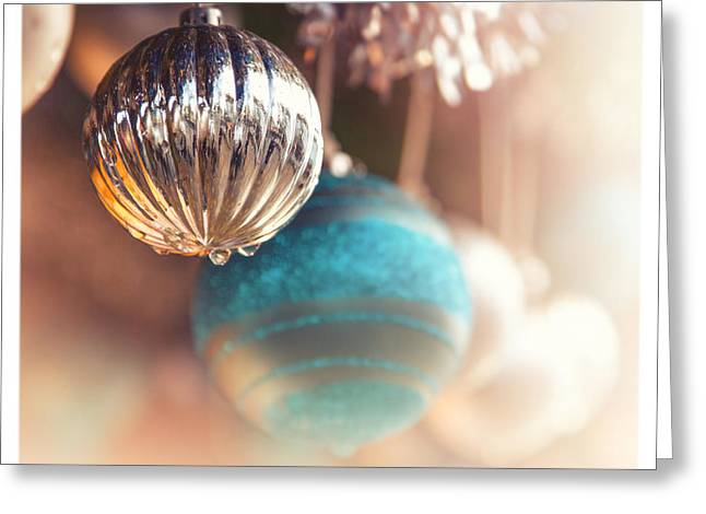 Old-fashioned Christmas Decorations Greeting Card by Jane Rix