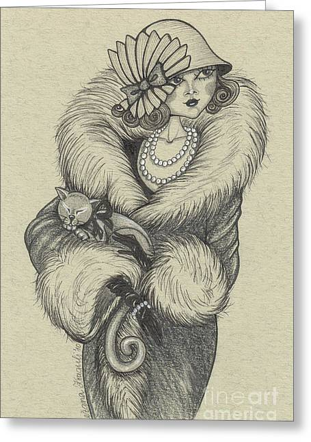 Old-fashioned Greeting Card by Snezana Kragulj