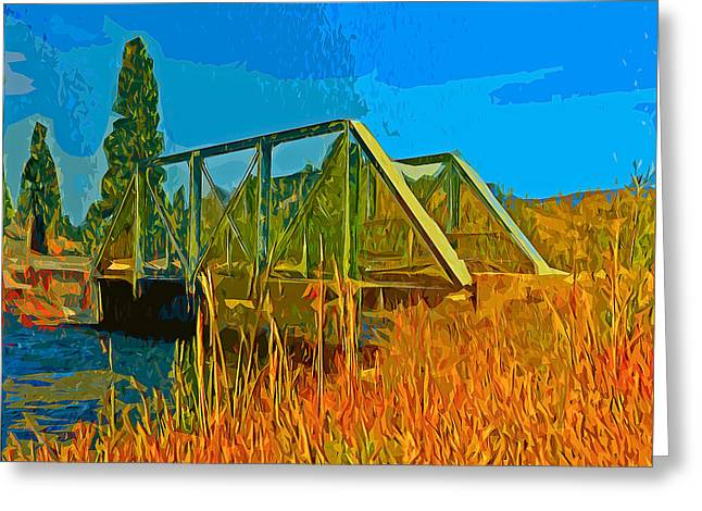 Old Firehole Bridge Greeting Card