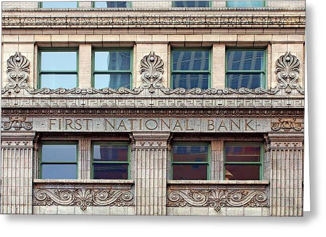 Old First National Bank - Building - Omaha Greeting Card