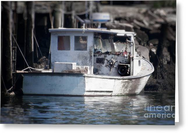 Old Fishing Boat Greeting Card by Loriannah Hespe