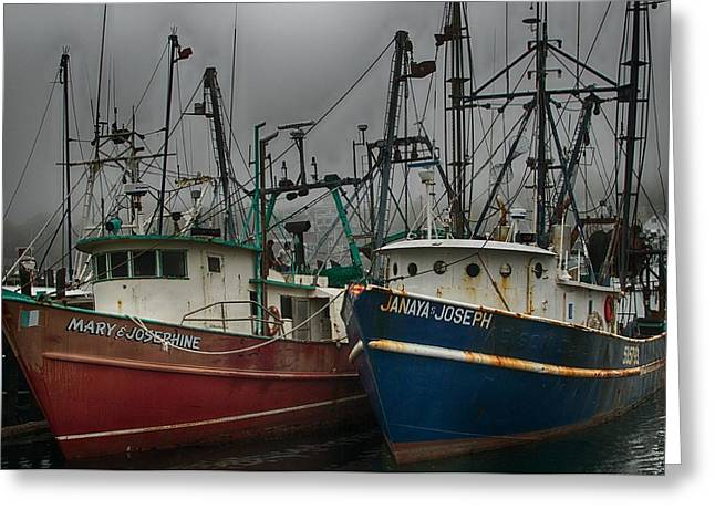 Old Fishing Boats Greeting Card
