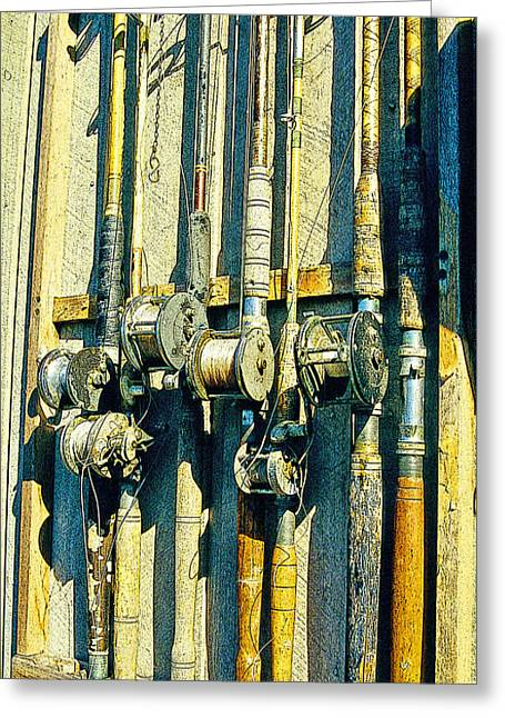 Old Fishing Rods Poster Image Greeting Card