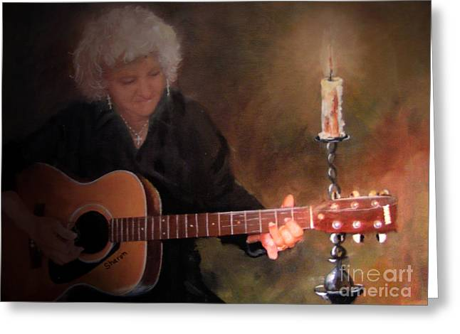 Old Flames Greeting Card by Sharon Burger