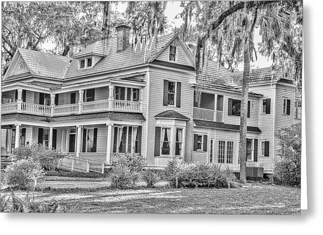 Old Florida Mansion Greeting Card by Cliff C Morris Jr