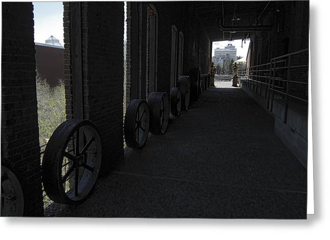 Old Flour Mill Corridor Greeting Card by Daniel Hagerman