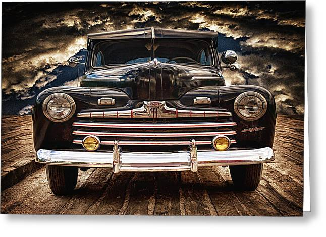 Greeting Card featuring the photograph Old Ford 2 ... by Chuck Caramella