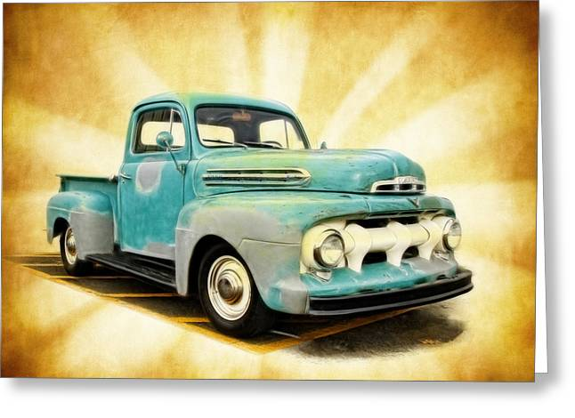 Old Ford Art Greeting Card by Steve McKinzie