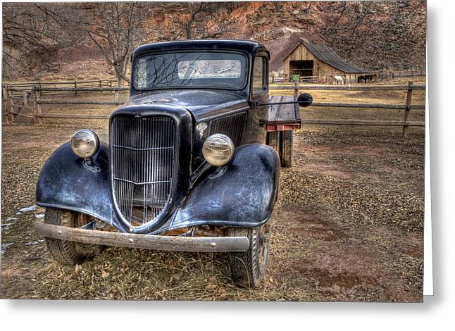 Old Ford Flatbed Greeting Card