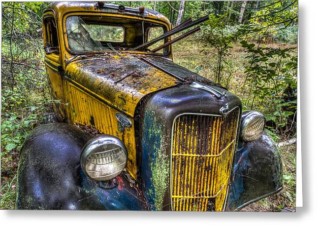 Old Ford Greeting Card by Paul Freidlund