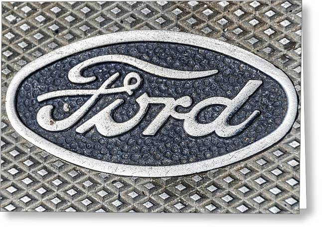 Old Ford Symbol Greeting Card