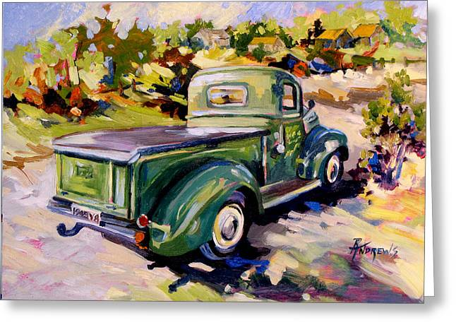 Old Ford Treasure Greeting Card by Rae Andrews