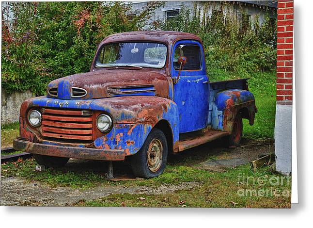 Old Ford Truck Greeting Card by Jill Lang