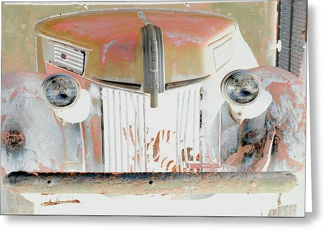 Old Ford Truck - Photopower Greeting Card