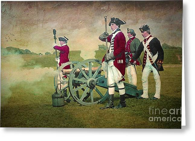 Greeting Card featuring the digital art Old Fort Niagara by Lianne Schneider