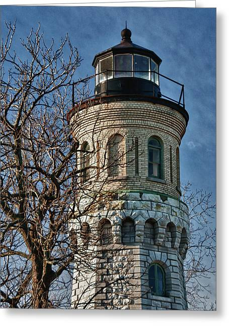 Greeting Card featuring the photograph Old Fort Niagara Lighthouse 4484 by Guy Whiteley