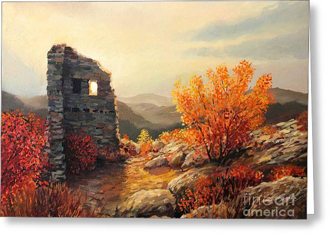 Old Fortress Ruins Greeting Card by Kiril Stanchev