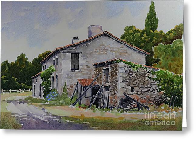 Old French Farmhouse Greeting Card by Anthony Forster