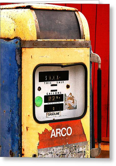 Old Gas Pump Greeting Card by Art Block Collections