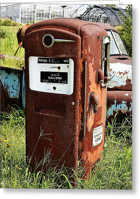 Greeting Card featuring the photograph Old Gas Pump by Paul Mashburn