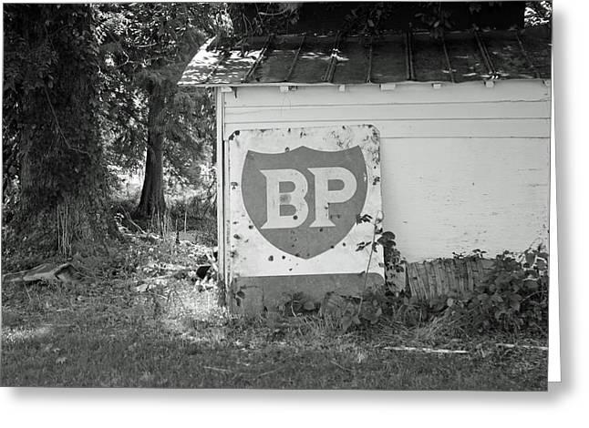 Old Gas Station Sign Greeting Card by Carolyn Ricks