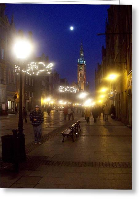 Old Gdansk Shops Greeting Card