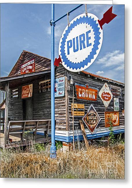Greeting Card featuring the photograph Old General Store by Marion Johnson