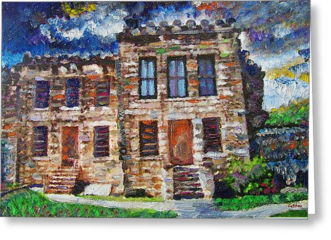 Old Georgetown Jail Greeting Card by GretchenArt FineArt