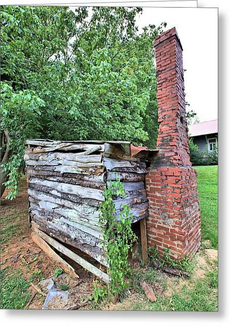 Greeting Card featuring the photograph Old Georgia Smokehouse by Gordon Elwell