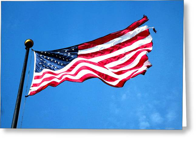 Old Glory - American Flag By Sharon Cummings Greeting Card