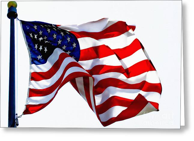 America The Beautiful Usa Greeting Card by Carol F Austin